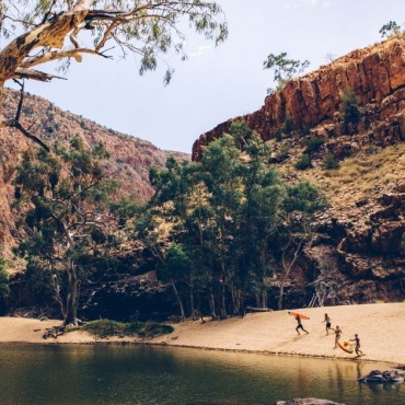 Swimming in the Red Centere: Water Fun in the Desert